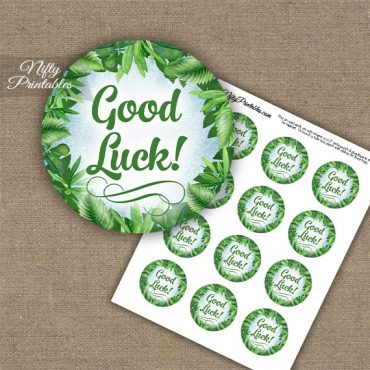 Good Luck Cupcake Toppers - Greenery