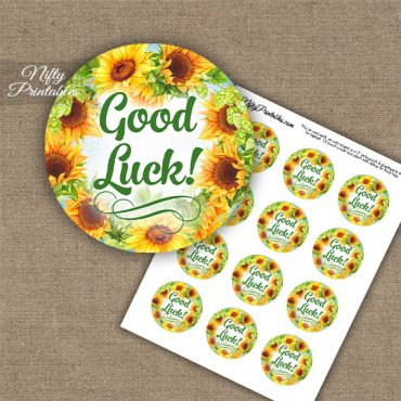 Good Luck Cupcake Toppers - Sunflowers