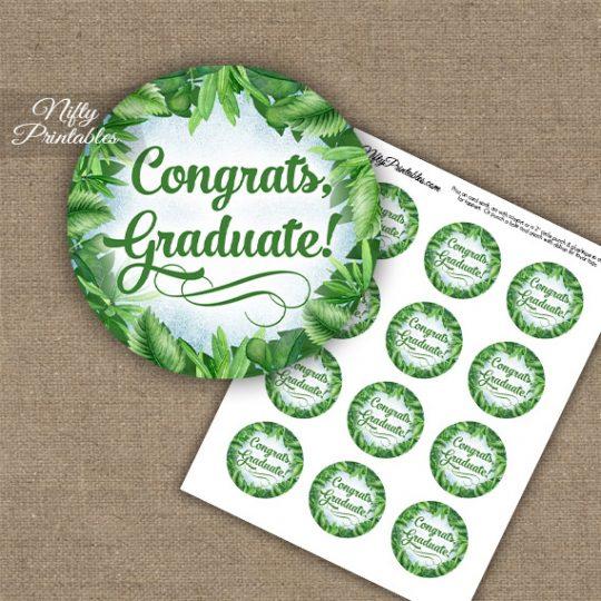 Graduation Cupcake Toppers - Greenery