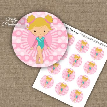 Gymnast Blond Cupcake Toppers