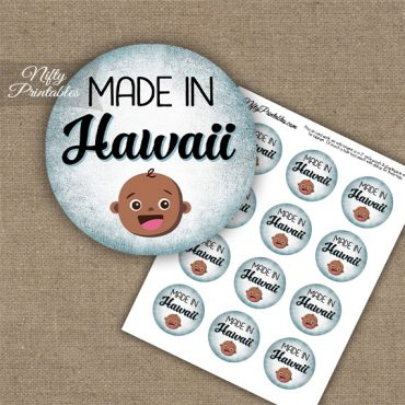 Hawaii Black Baby - Blue Cupcake Toppers