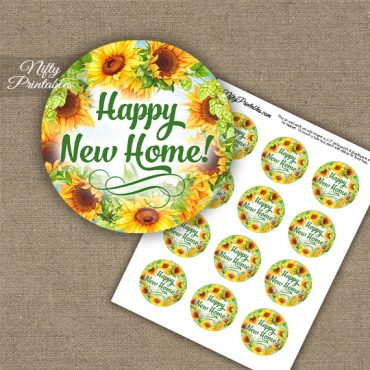 Housewarming Cupcake Toppers - Sunflowers