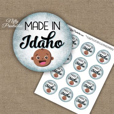 Idaho Black Baby - Blue Cupcake Toppers