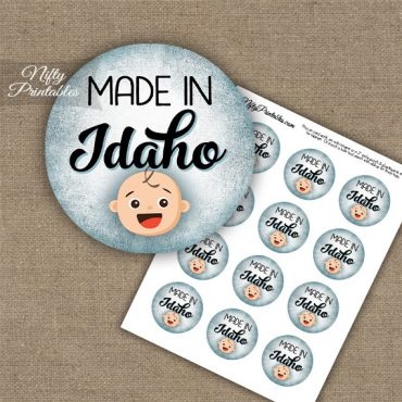 Idaho White Baby - Blue Cupcake Toppers