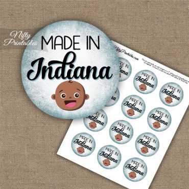 Indiana Black Baby - Blue Cupcake Toppers