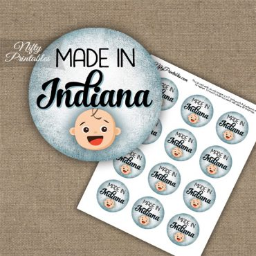 Indiana White Baby - Blue Cupcake Toppers