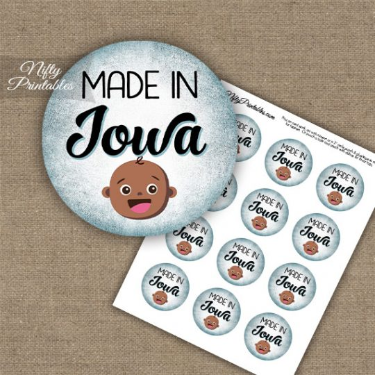 Iowa Black Baby - Blue Cupcake Toppers