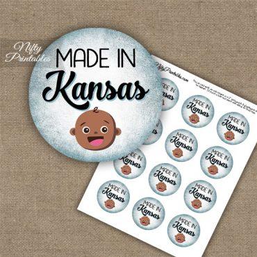 Kansas Black Baby - Blue Cupcake Toppers