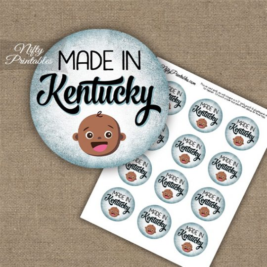 Kentucky Black Baby - Blue Cupcake Toppers