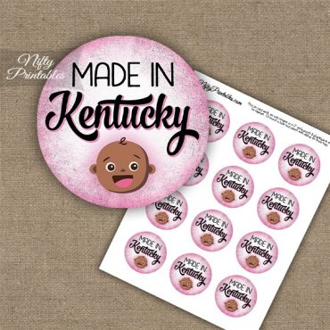 Kentucky Black Baby - Pink Cupcake Toppers