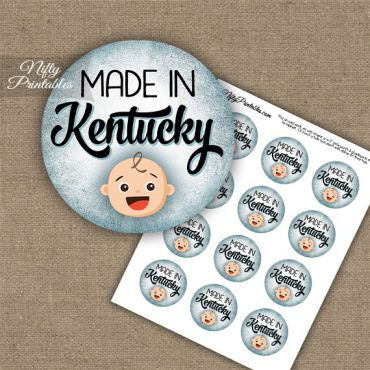 Kentucky White Baby - Blue Cupcake Toppers