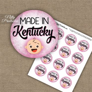 Kentucky White Baby - Pink Cupcake Toppers