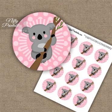 Koala Pink Cupcake Toppers