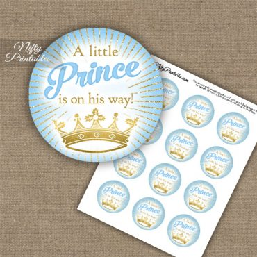 Little Prince - Baby Shower Toppers - Blue Gold