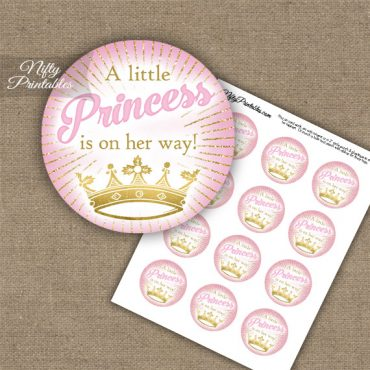 Little Princess - Baby Shower Toppers - Pink Gold