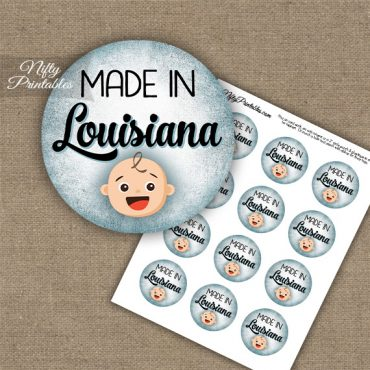 Louisiana White Baby - Blue Cupcake Toppers