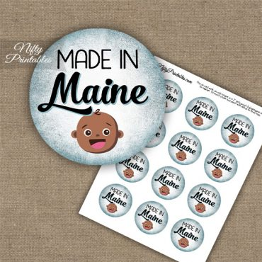 Maine Black Baby - Blue Cupcake Toppers