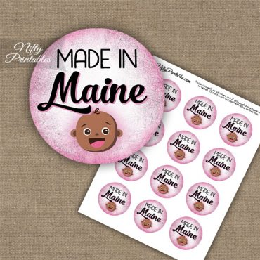 Maine Black Baby - Pink Cupcake Toppers