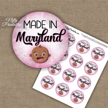 Maryland Black Baby - Pink Cupcake Toppers