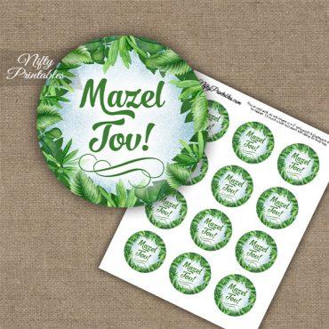 Mazel Tov Cupcake Toppers - Greenery