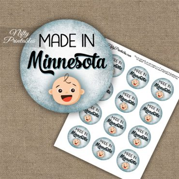 Minnesota White Baby - Blue Cupcake Toppers