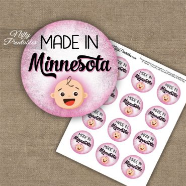 Minnesota White Baby - Pink Cupcake Toppers