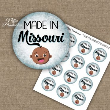 Missouri Black Baby - Blue Cupcake Toppers