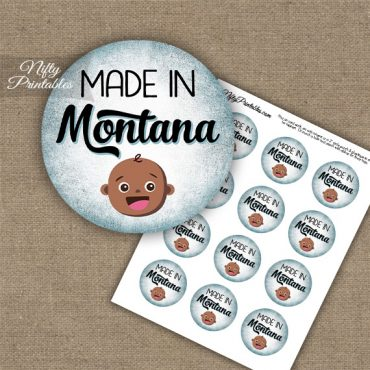 Montana Black Baby - Blue Cupcake Toppers