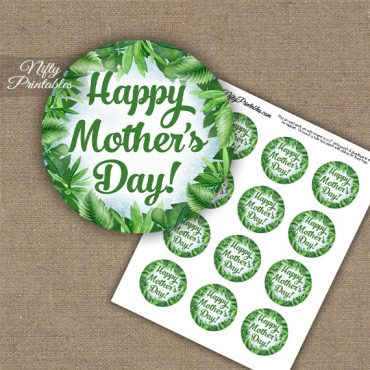 Mother's Day Cupcake Toppers - Greenery