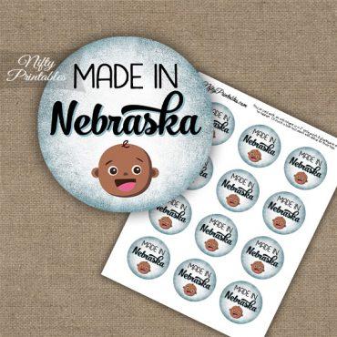 Nebraska Black Baby - Blue Cupcake Toppers