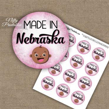 Nebraska Black Baby - Pink Cupcake Toppers