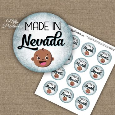 Nevada Black Baby - Blue Cupcake Toppers