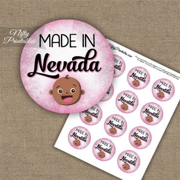 Nevada Black Baby - Pink Cupcake Toppers
