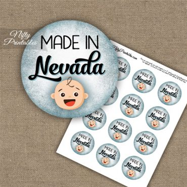 Nevada White Baby - Blue Cupcake Toppers