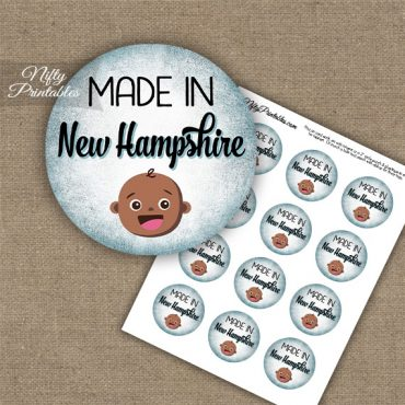 New Hampshire Black Baby - Blue Cupcake Toppers