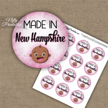 New Hampshire Black Baby - Pink Cupcake Toppers