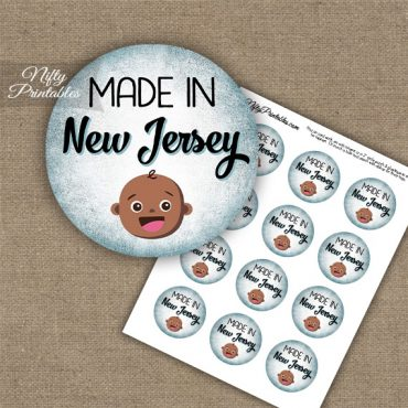 New Jersey Black Baby - Blue Cupcake Toppers