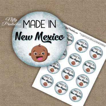 New Mexico Black Baby - Blue Cupcake Toppers