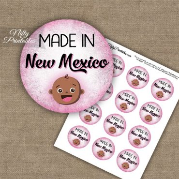 New Mexico Black Baby - Pink Cupcake Toppers