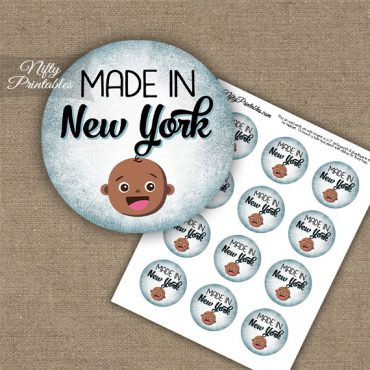 New York Black Baby - Blue Cupcake Toppers
