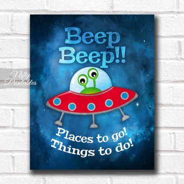 Outer Space Beep Beep Art Print