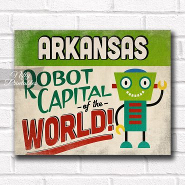 Arkansas Art Print - Robot Capital