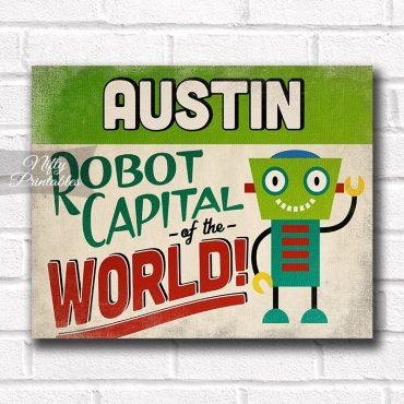 Austin Art Print - Robot Capital