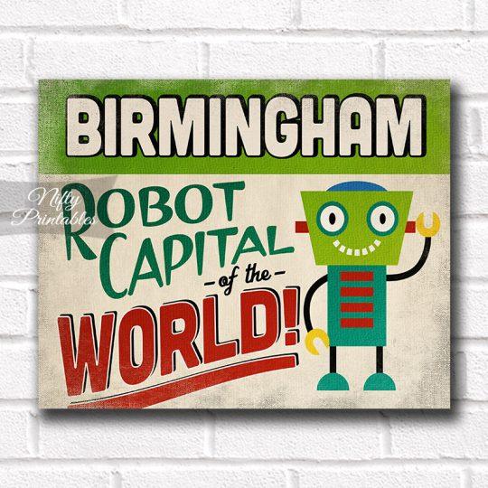 Birmingham Art Print - Robot Capital
