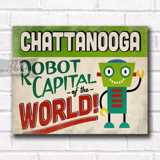 Chattanooga Art Print - Robot Capital