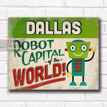 Dallas Art Print - Robot Capital