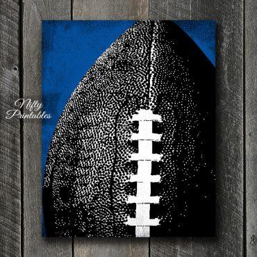 Football Art Print - Blue Back