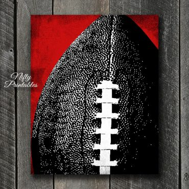 Football Red  Back Art Print - Red Back