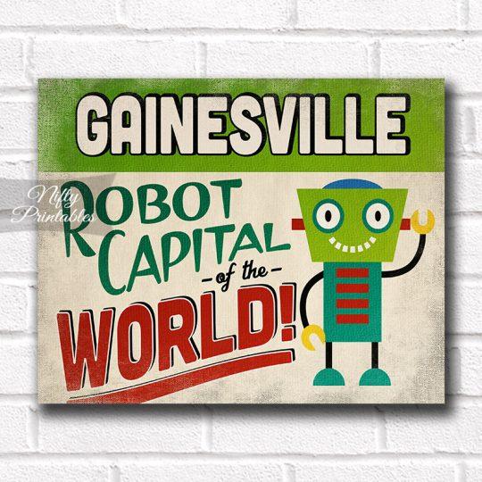 Gainesville Art Print - Robot Capital