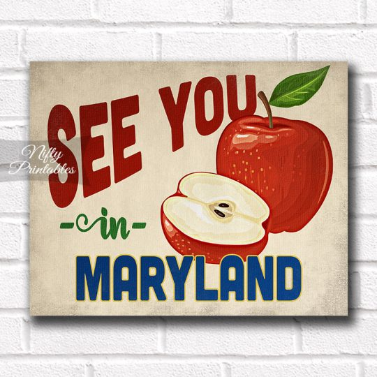 Maryland  Art Print - Vintage Apple